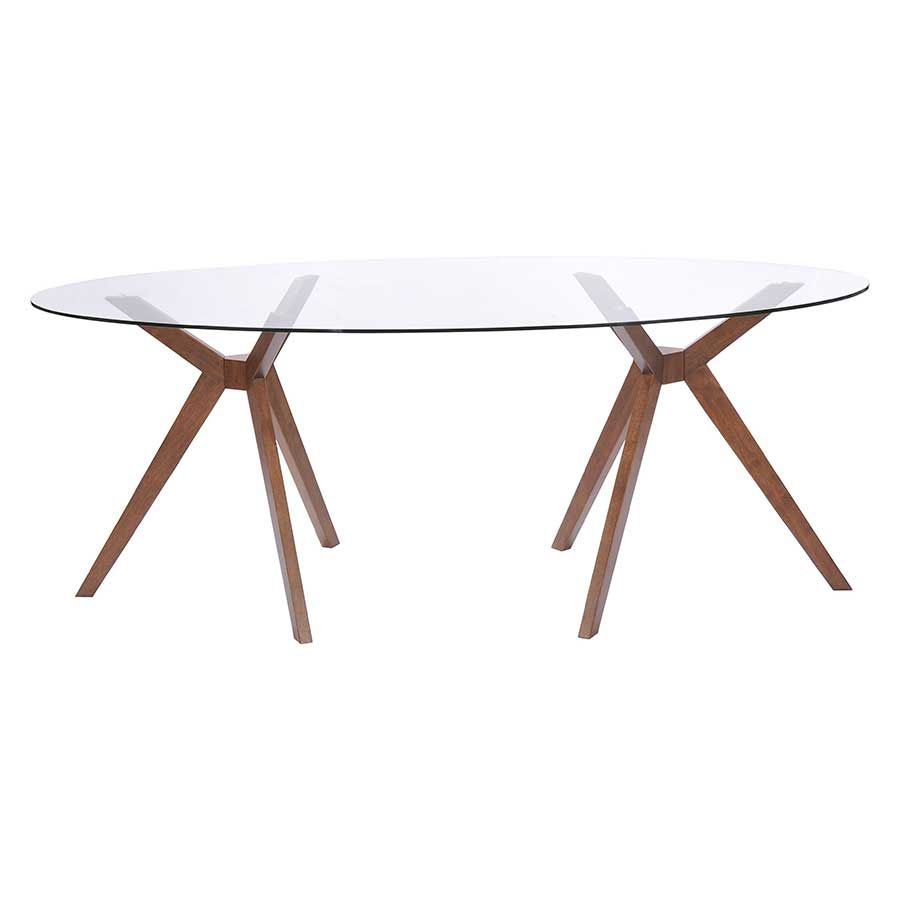 Buena Vista Dining Table Walnut 100090 Zuo Modern