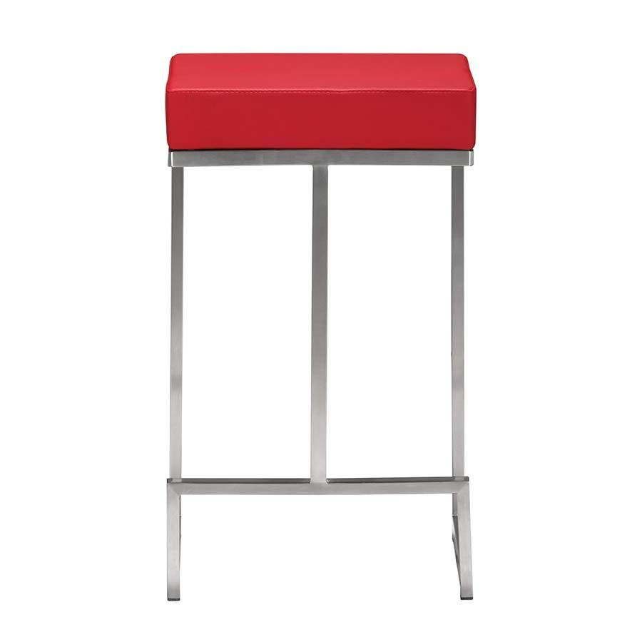 Darwen Counter Stool Red 300050 Zuo Modern Contemporary