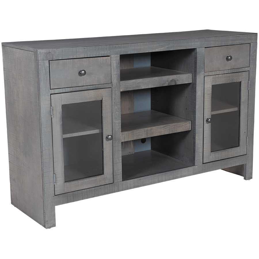 Del Mar Tall Tv Console In Rain Gray 33con Rg Whalen Furniture Afw