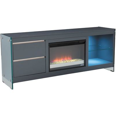 Picture of Biscayne Media Gray Fireplace