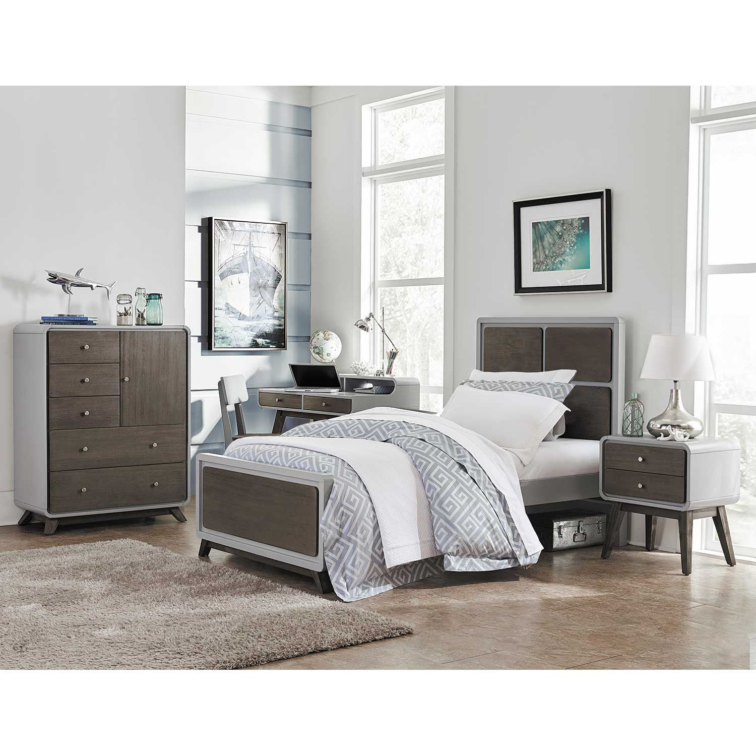 East end twin bookcase bed 7101 tbkcs hillsdale for Bookshelf behind bed