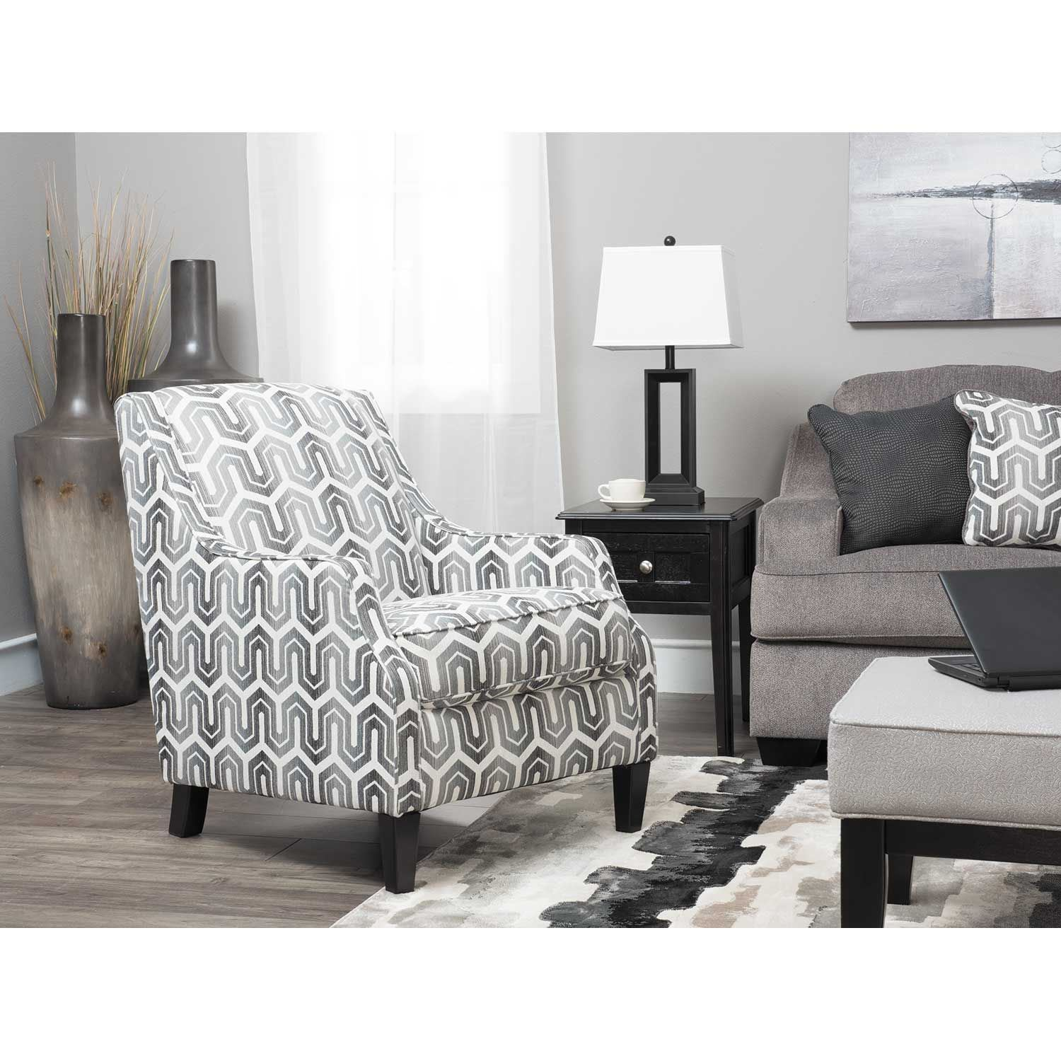 Gilmer Gray Chain Link Accent Chair Ss 656ac Ashley