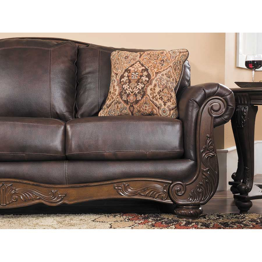 Ashley Leather Sofa: AFW : Mellwood Walnut Leather Sofa By Ashley Furniture