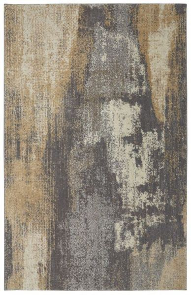 Berkshire Truro Grey Yellow 8x10 Rug 90634 94011 Gry