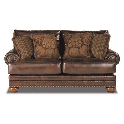 Picture of Antique Bonded Leather Loveseat
