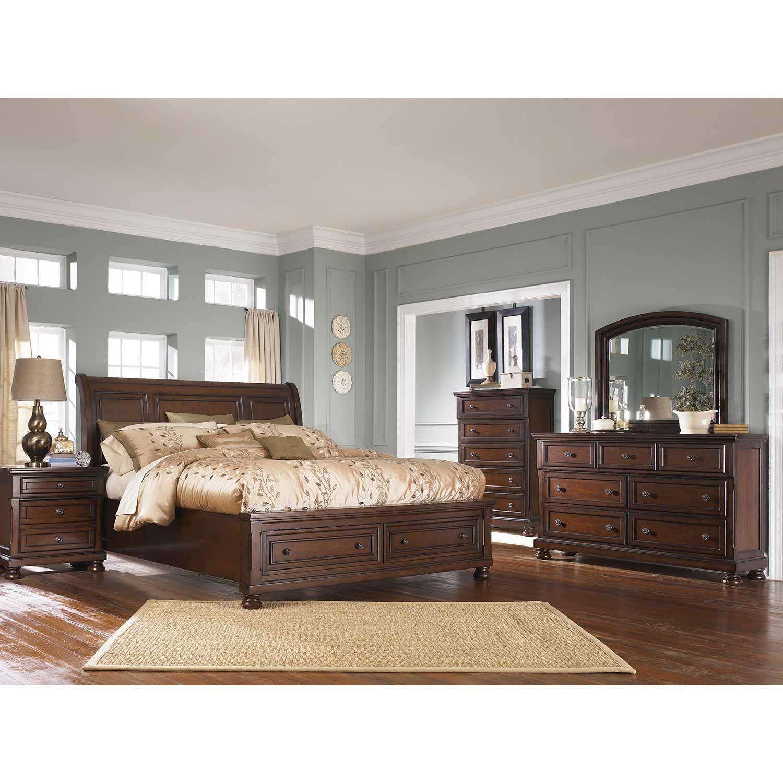 porter 5 piece bedroom set | b697-5pcset | ashley - american