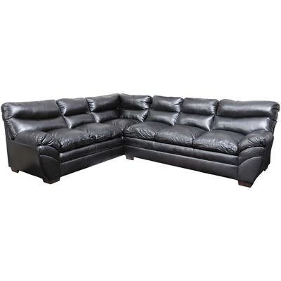 Picture of Soho 2 Piece Onyx Bonded Leather Sectional