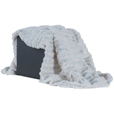 Picture of White Faux Fur Throw Blanket *P