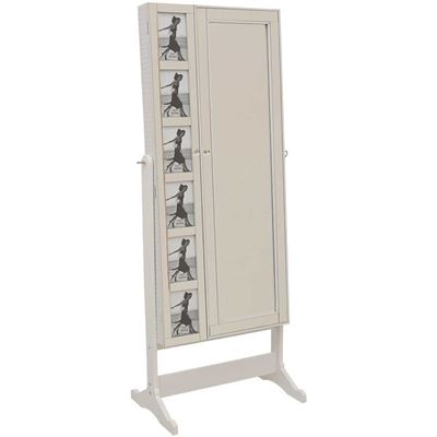 Imagen de White Picture Insert Jewelry Storage Mirror