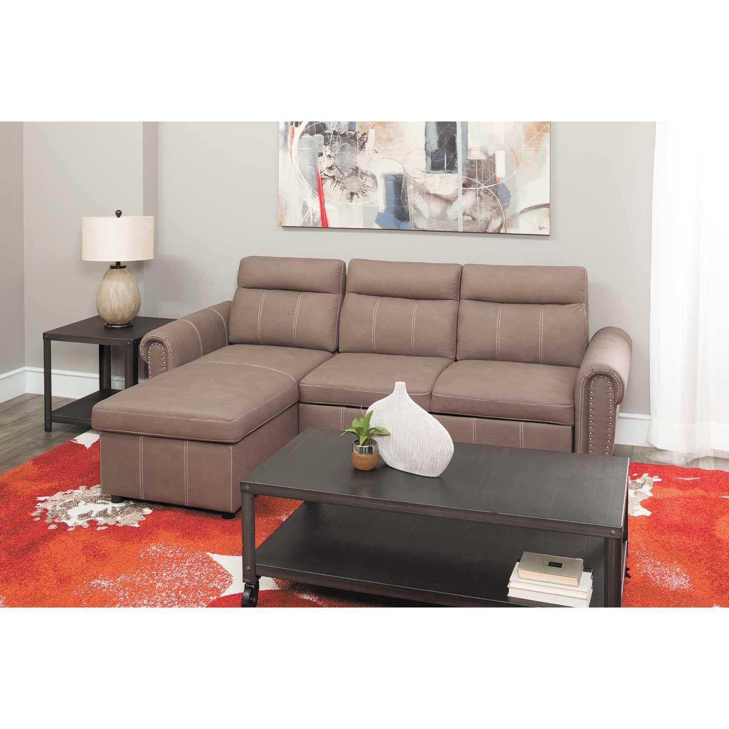 Farrel  Piece Sectional With Pull Out Bed