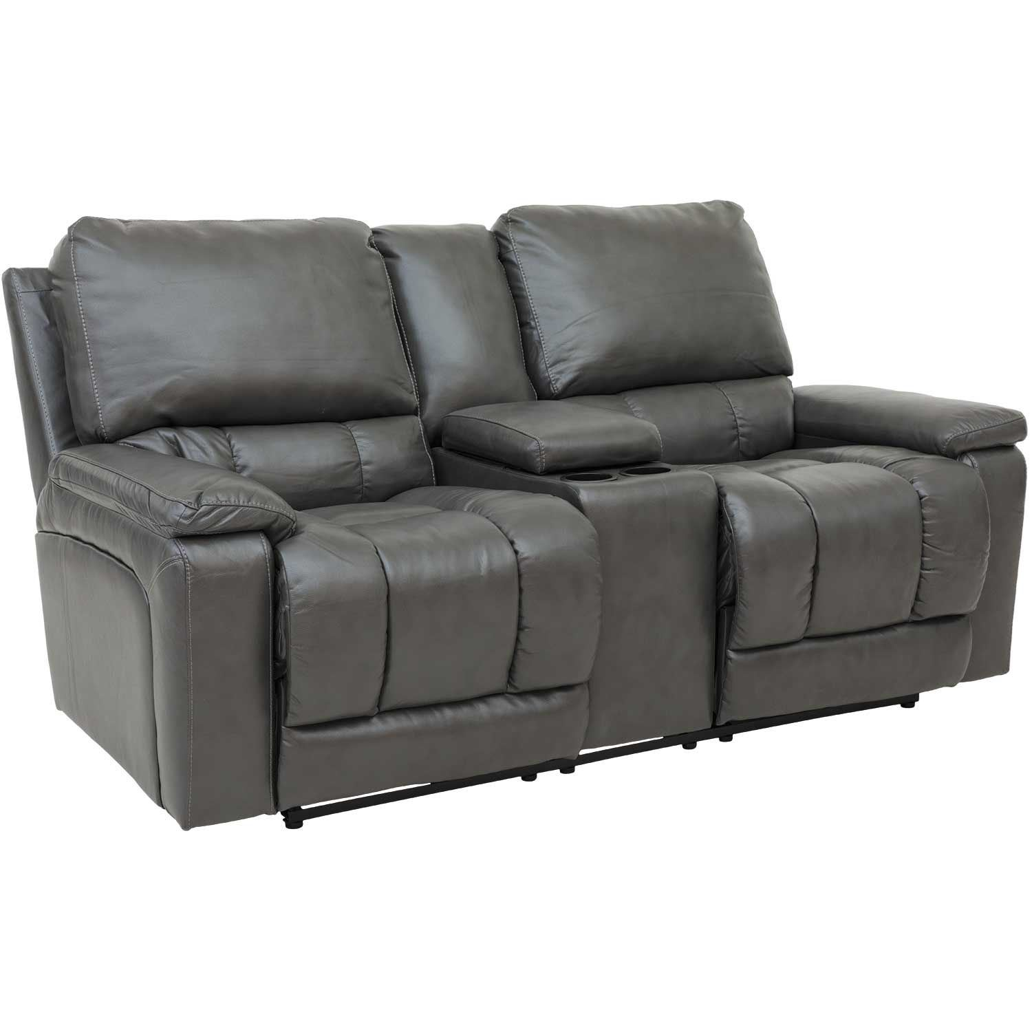 Afw Charcoal Recline Console Loveseat Z3 400rl Leather Loveseats