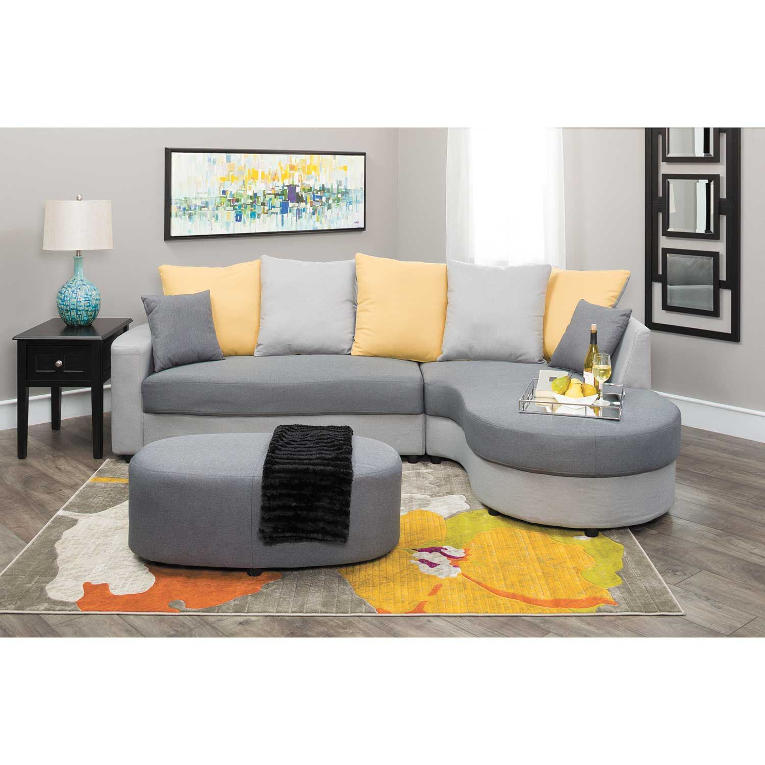 Elise Two Tone Gray 2 Piece Sectional 1a 245 2pc