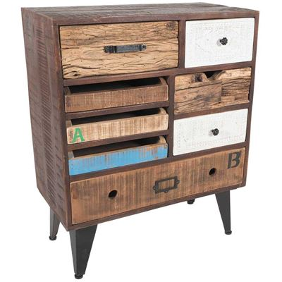 Imagen de Iron and Wooden 8 Drawer Chest