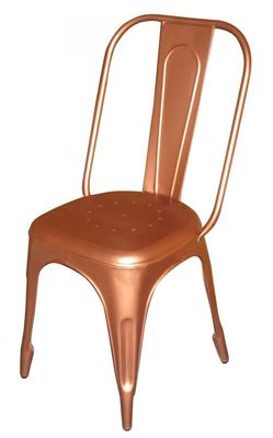 Picture of Retro Cafe Side Chair, Copper