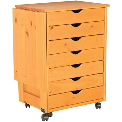 Picture of Drop Leaf 7 Drawer Roll Cart