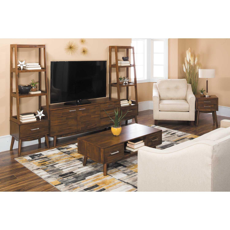 mid century modern wall unit 30231 30241x2 tj. Black Bedroom Furniture Sets. Home Design Ideas