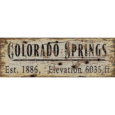 Picture of COLORADO SPRINGS VINTAGE SIGN