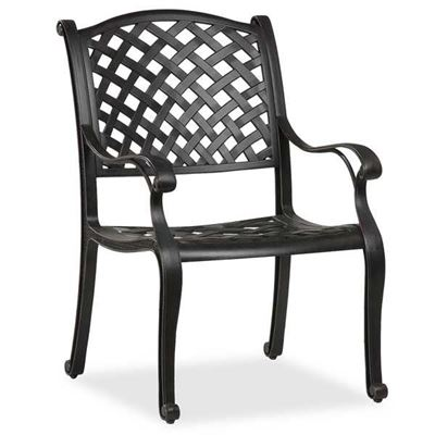 cast aluminum arm chair
