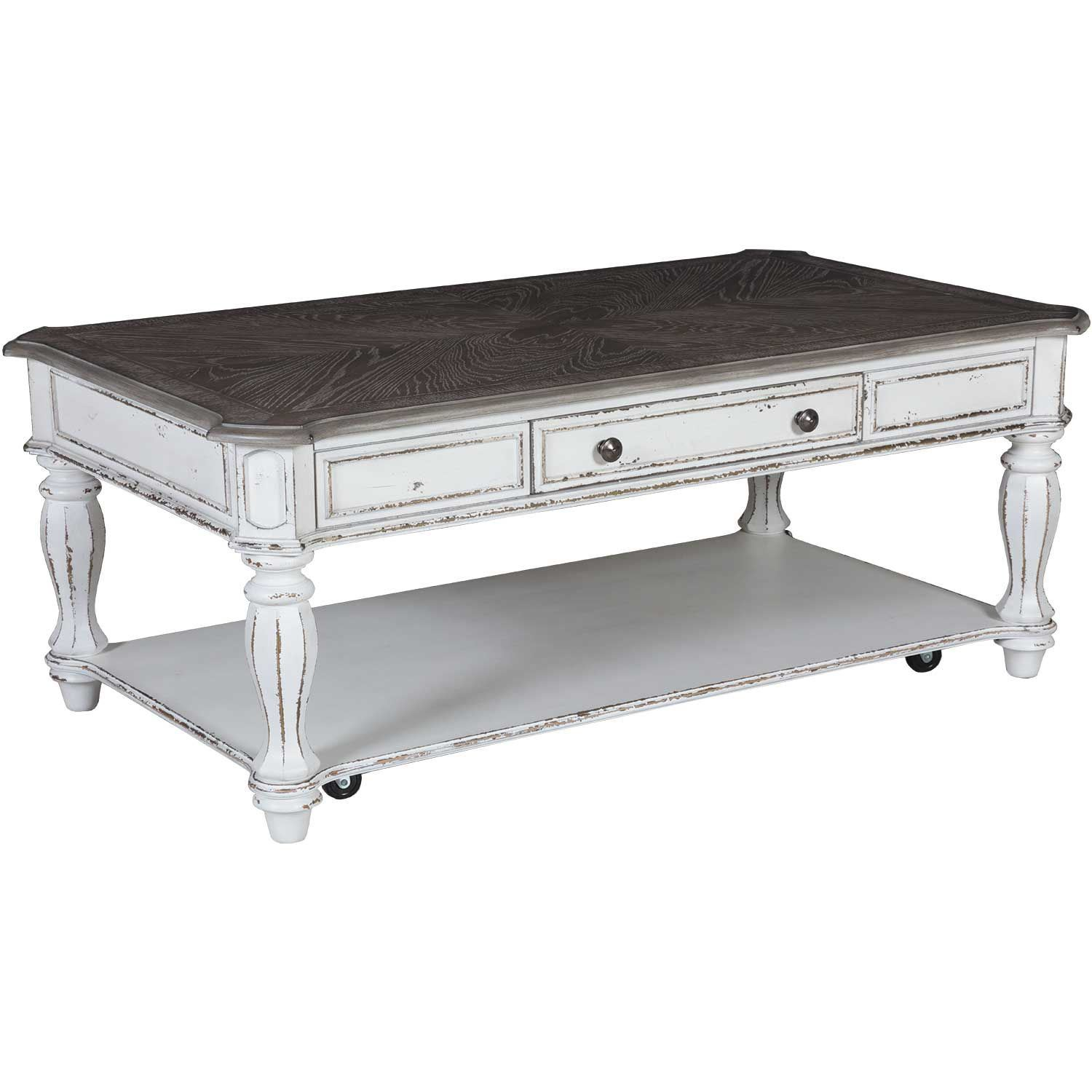 White Coffee Table Near Me: Magnolia Manor Rectangular Cocktail Table