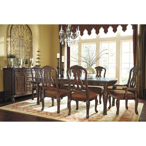 north shore 7 piece dining set d553-7pc | ashley d553-35/4-03/2