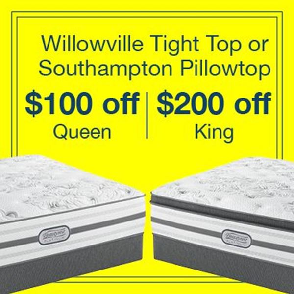 Picture for category $100 Off Queen or $200 Off King