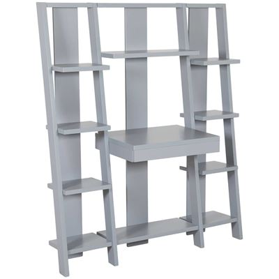 Picture of Tiffany Gray Ladder Desk and Bookcase