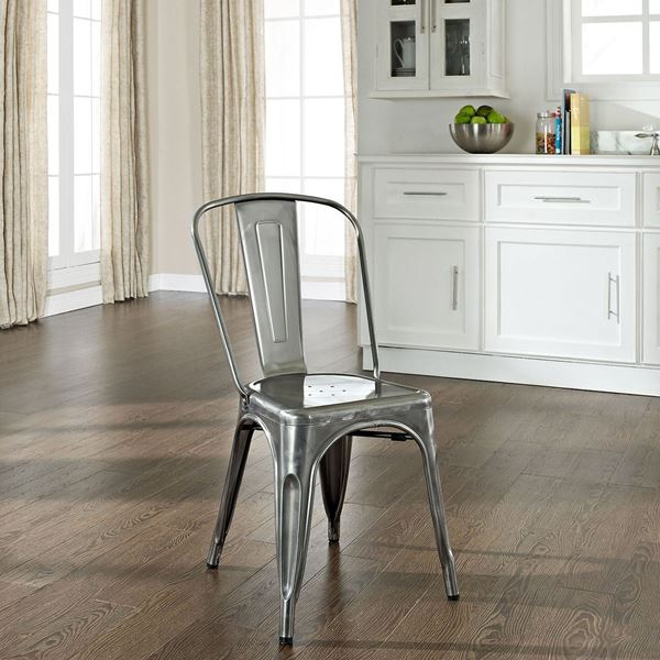 Superbe Picture Of Amelia Metal Cafe Chair 2 Piece, Galvanized *D