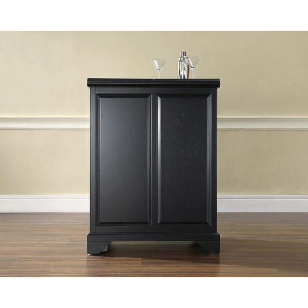 Lafayette Expandable Bar Cabinet Black D
