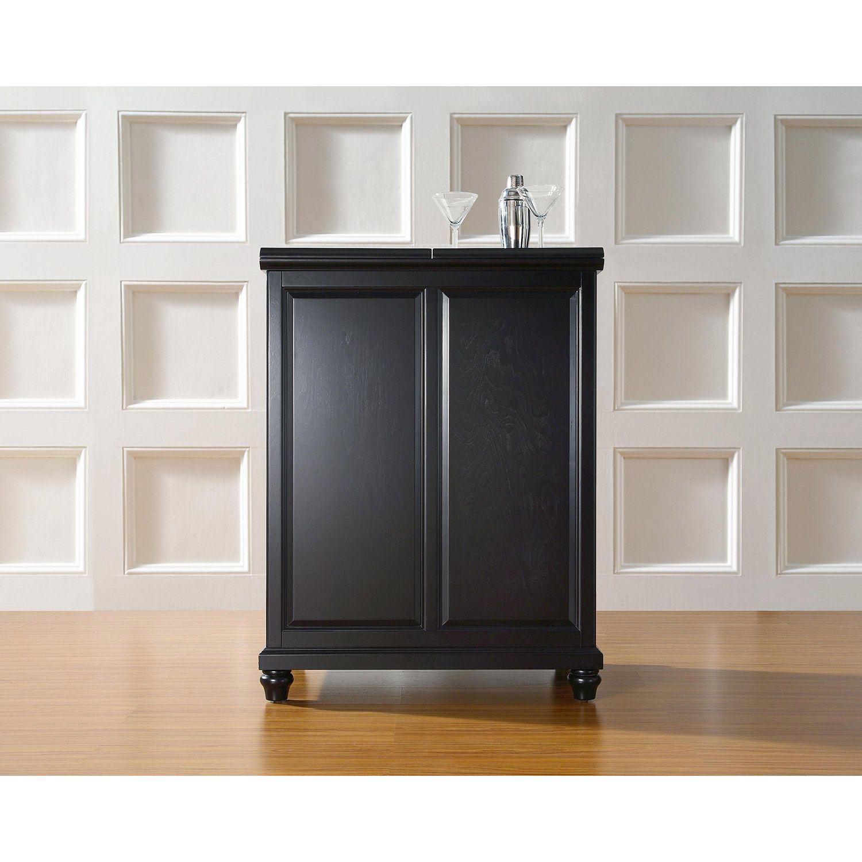 Beau Picture Of Cambridge Expandable Bar Cabinet, Black *D
