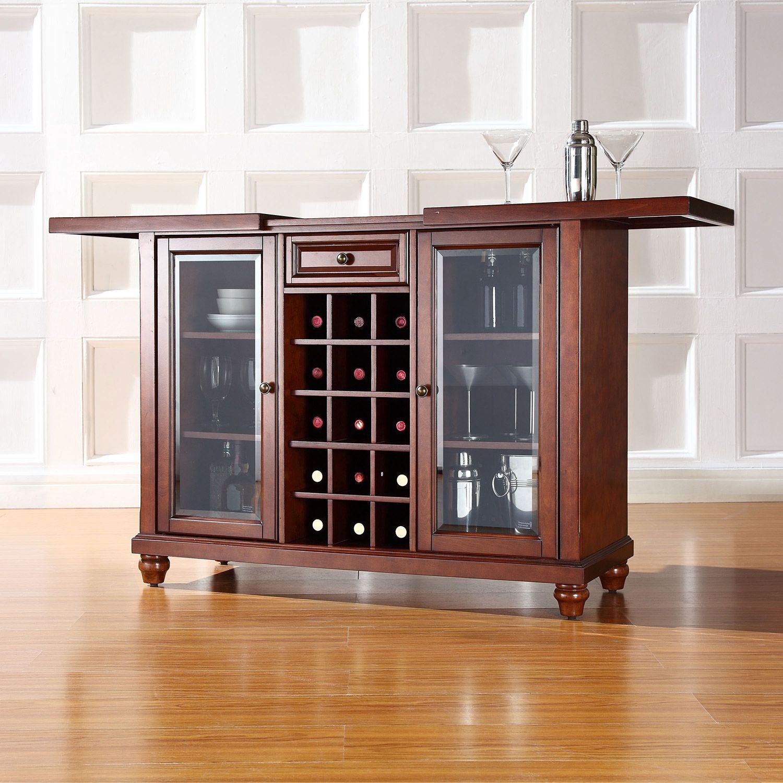 Best Bar Furniture: Cambridge Sliding Top Bar Cabinet, Mahogany *D