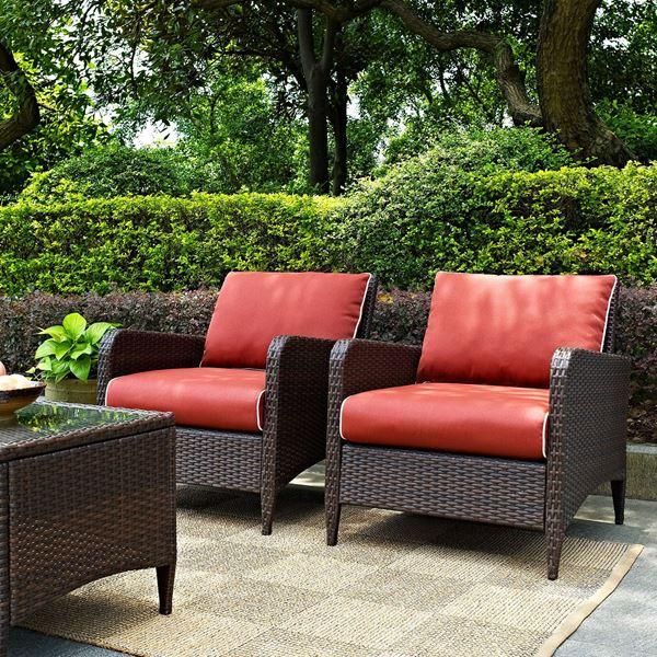 Kiawah 2 Piece Outdoor Seating Set Brown D Ko70030br