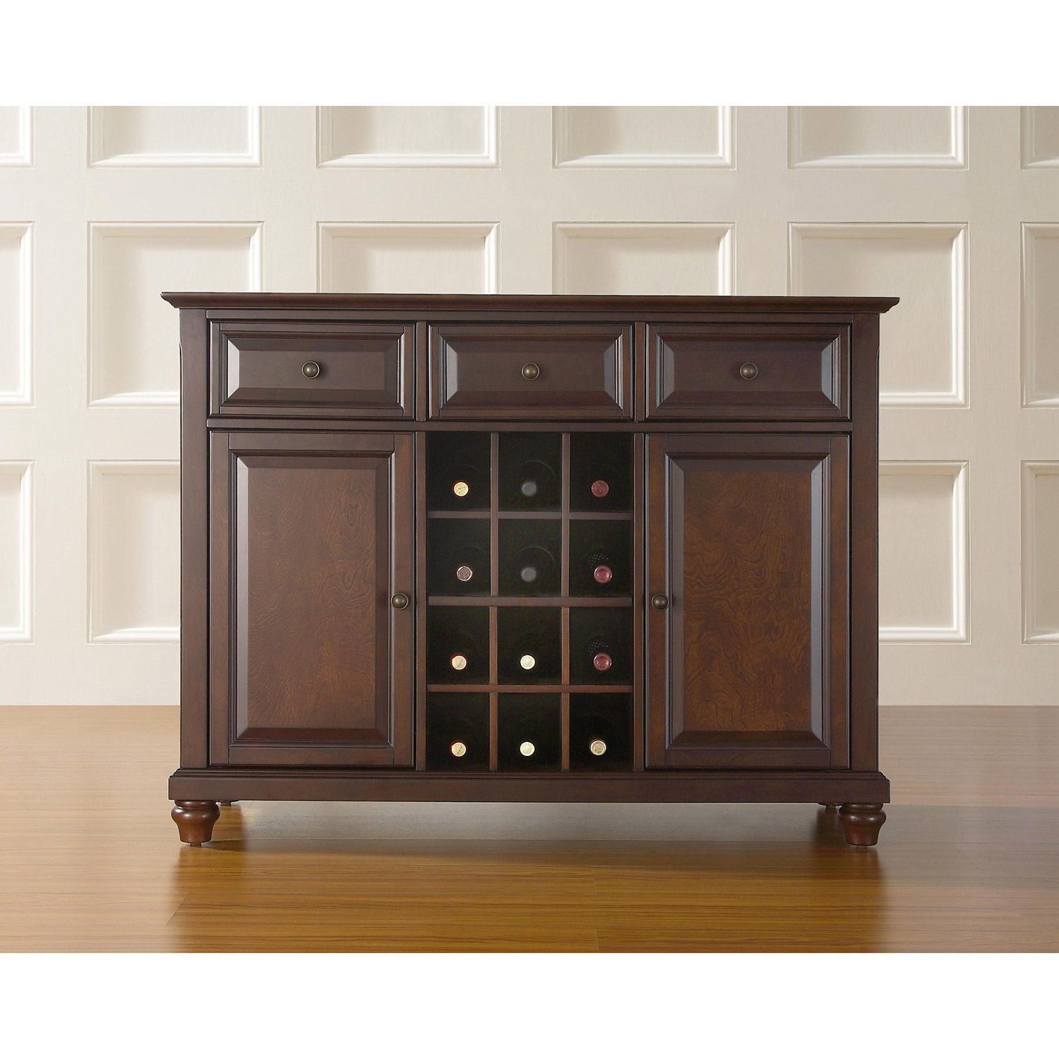 Amish Rustic Dining Room Sideboard Server Buffet Cambridge: Cambridge Buffet Server / Sideboard, Mahogany *D