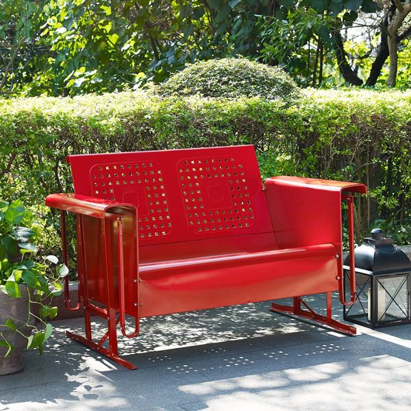 Picture Of Bates Sofa Glider, Red *D