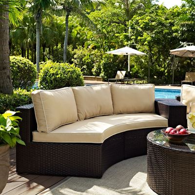 Picture of Catalina Outdoor Sofa, Brown *D