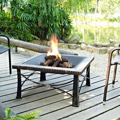 Picture of Firestone Square Slate Fire Pit in Black *D