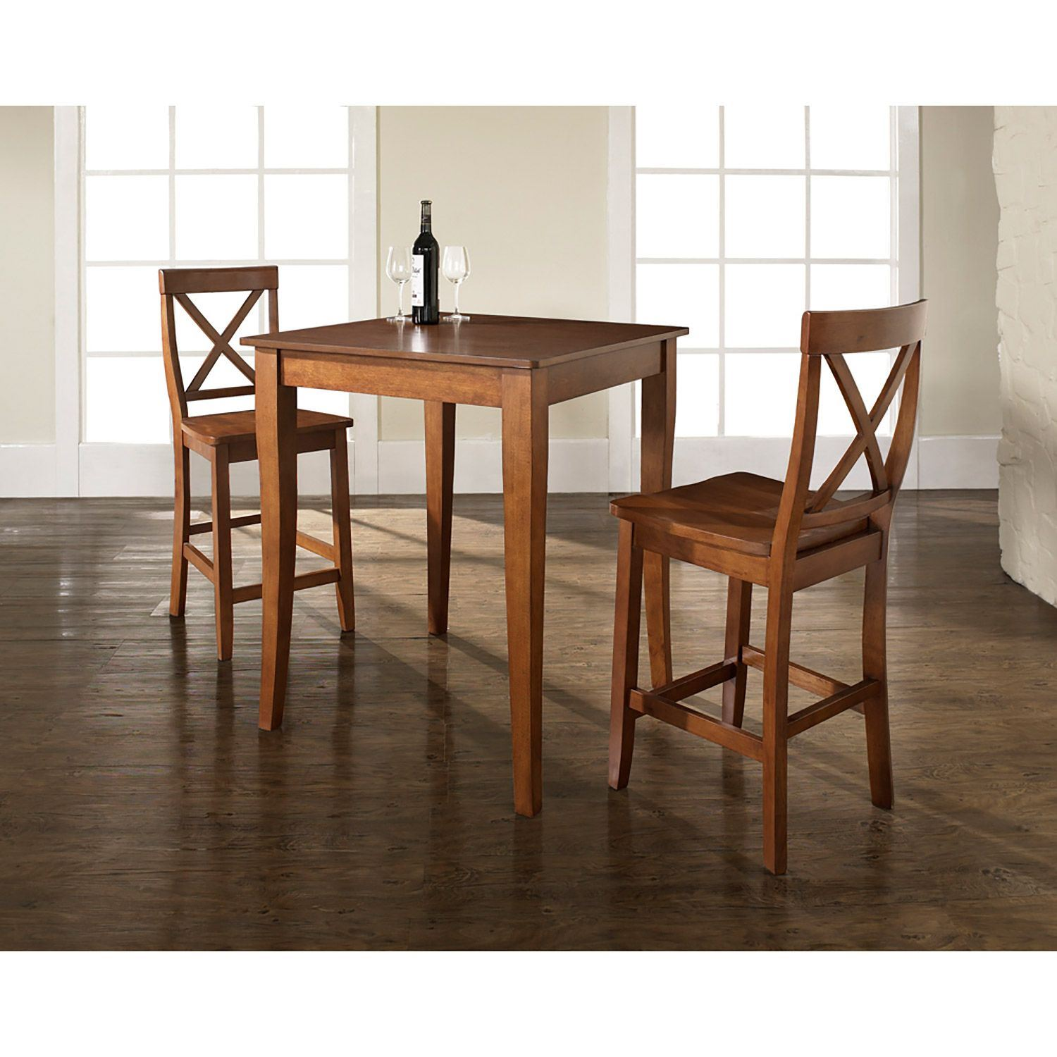 3 Piece Pub Dining Set Cherry D Kd320001ch Crosley