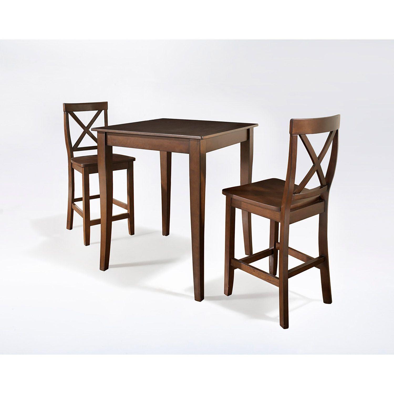 3 Piece Pub Dining Set Mahogany D Kd320001ma Crosley