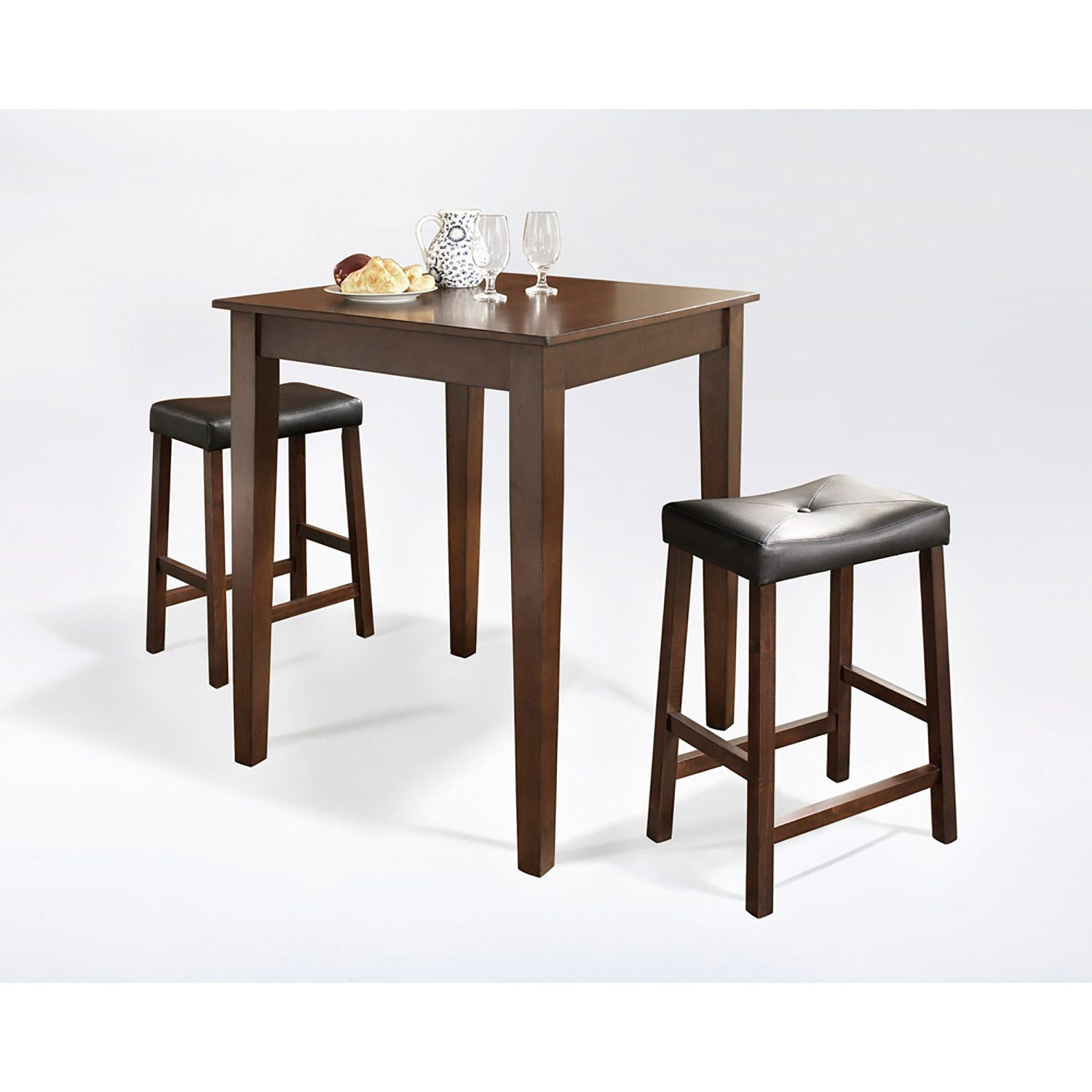 3-Piece Pub Dining Set, Mahogany *D
