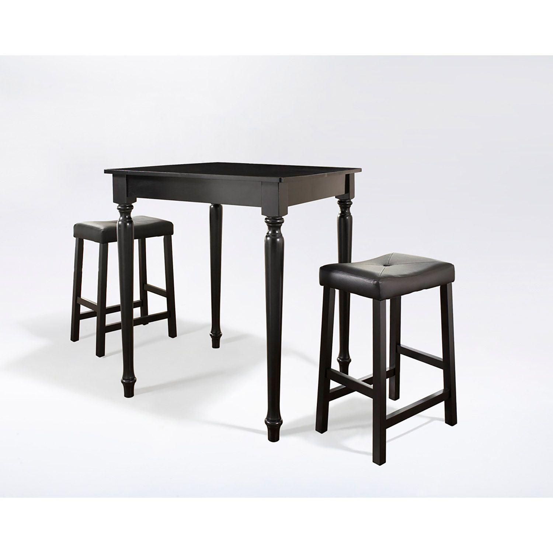 3 Piece Pub Dining Set Black D Kd320012bk Crosley