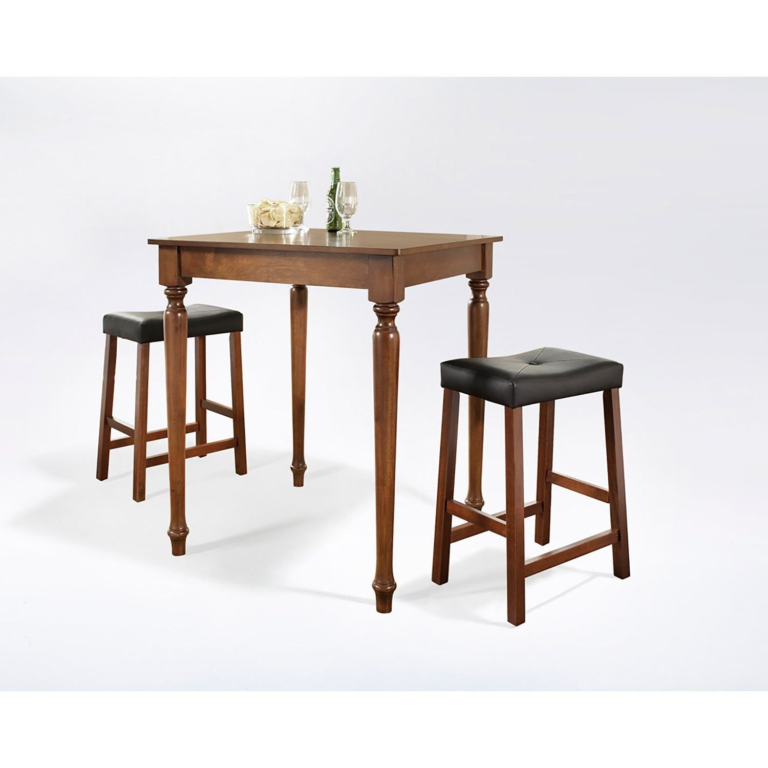 3 Piece Pub Dining Set Cherry D Kd320012ch Crosley
