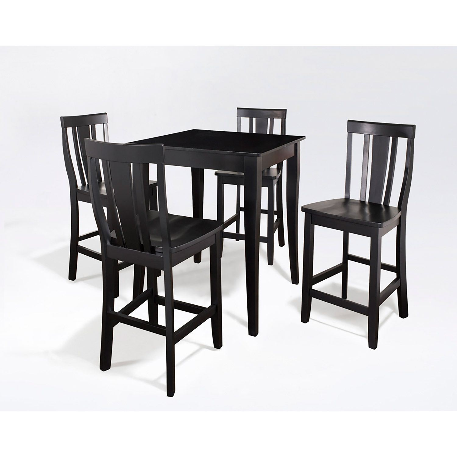 5 Piece Pub Dining Set Black D Kd520002bk Crosley