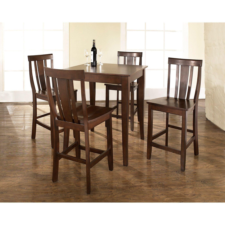 5 Piece Pub Dining Set Mahogany D Kd520002ma Crosley
