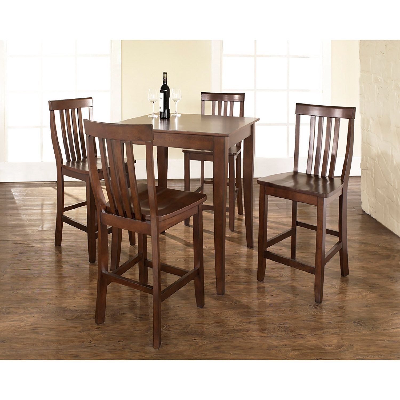 5 Piece Pub Dining Set Mahogany D Kd520003ma Crosley