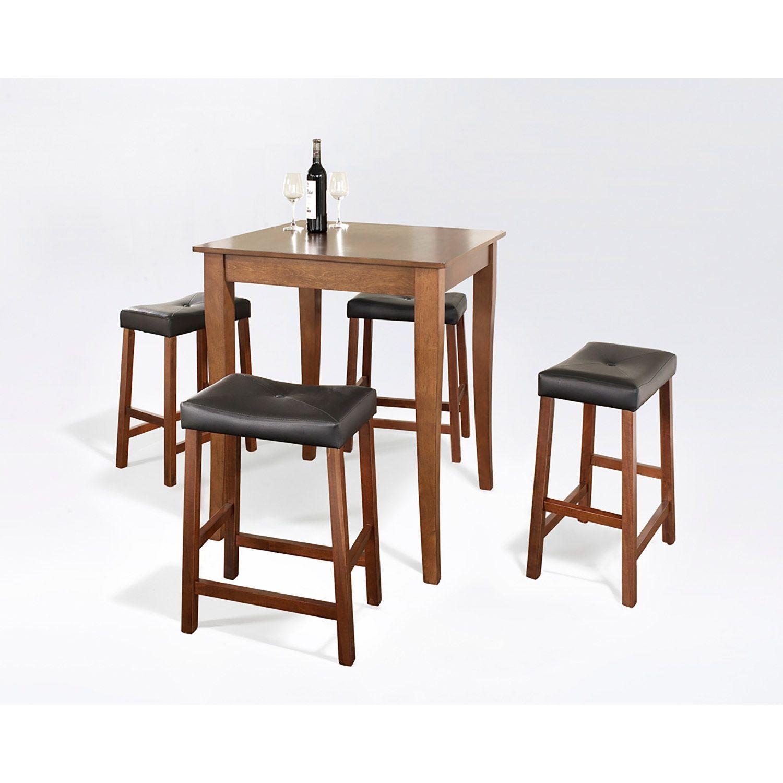 5 Piece Pub Dining Set Cherry D Kd520004ch Crosley