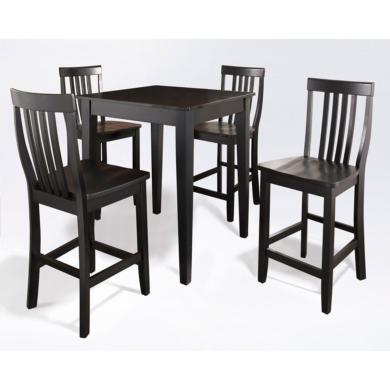 Black Pub Dining Set