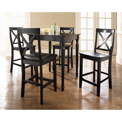 Imagen de 5-Piece Pub Dining Set, black *D