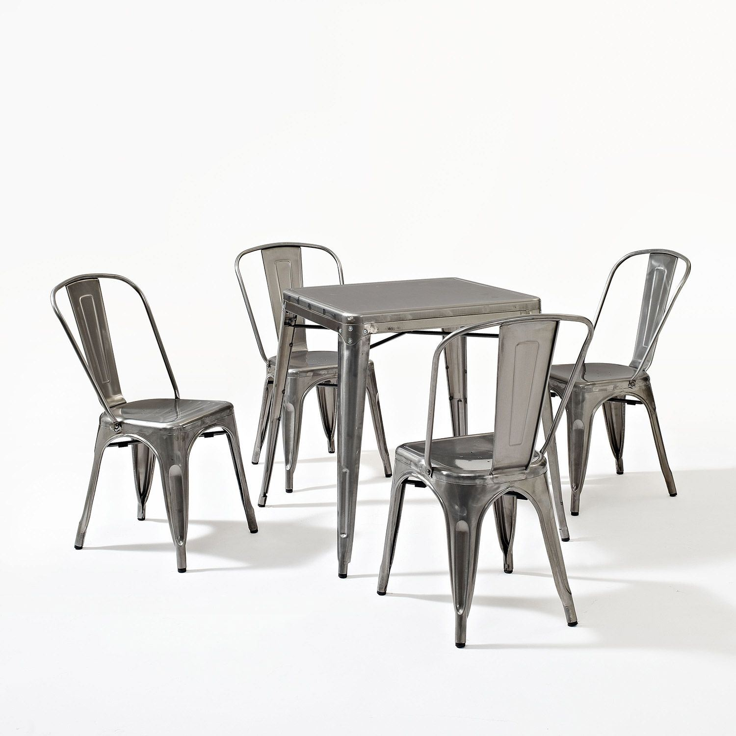 ... Picture Of Amelia 5 Piece Metal Cafe Dining Set, ...