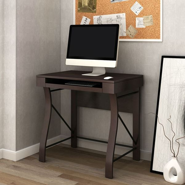Merveilleux Desk With Keyboard Tray, Dark Espresso *D