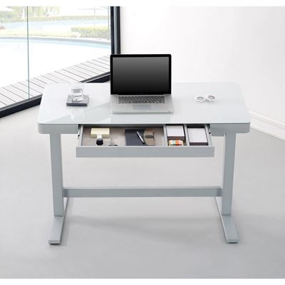 Picture of Adjustable Height Desk, White *D