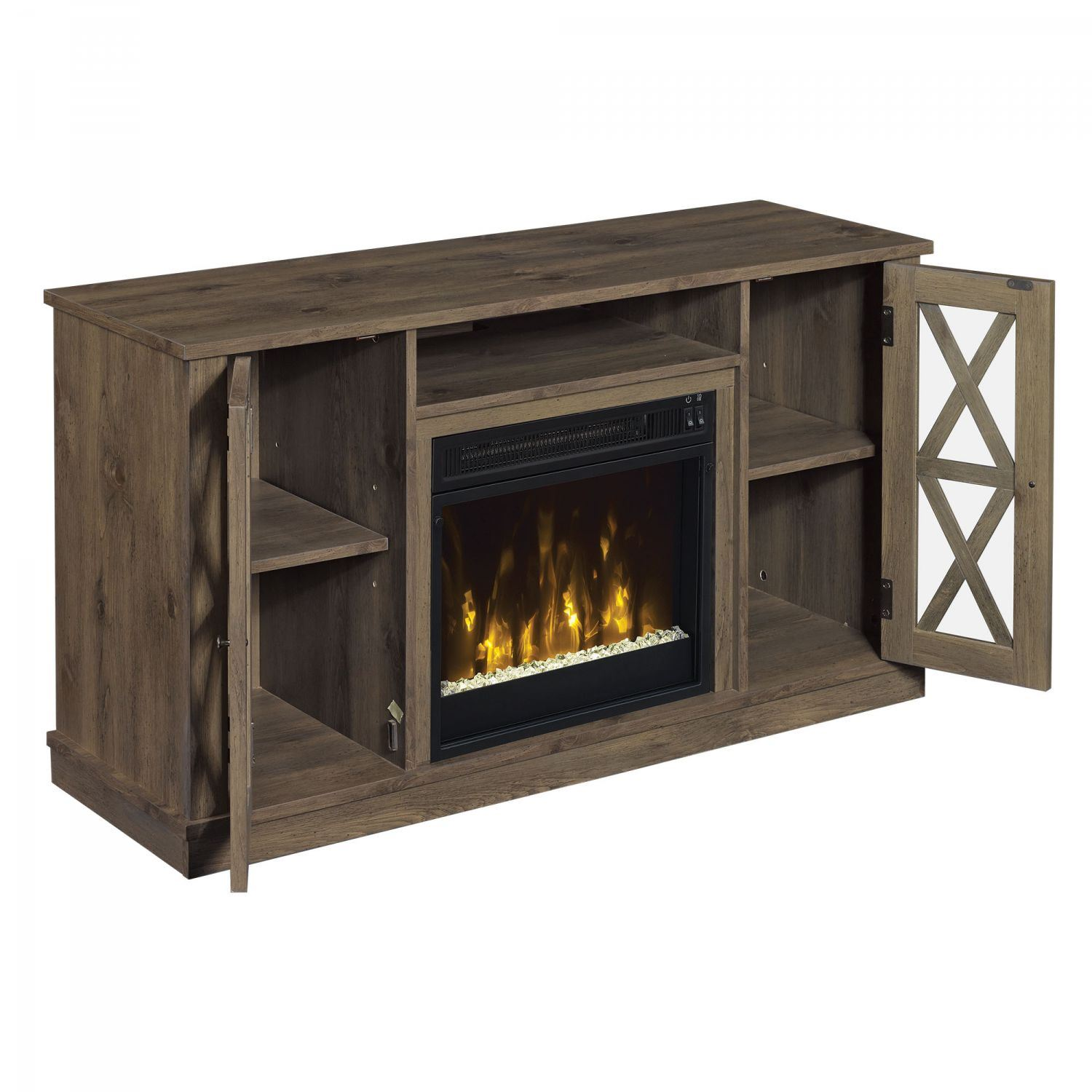 bayport tv stand with fireplace d 18mm6092 pi14s classic flame twin star afw. Black Bedroom Furniture Sets. Home Design Ideas